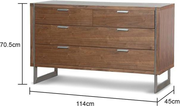 Retro Chest With Walnut Finish image 2