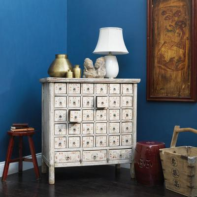 Cream Lacquer Apothecary Chest image 2