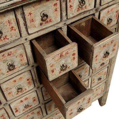 Cream Lacquer Apothecary Chest image 8
