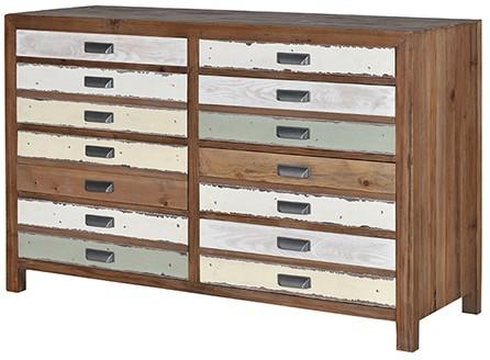 Recycled Fir Eight Drawer Chest image 2