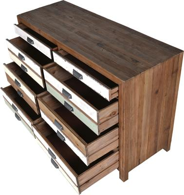Recycled Fir Eight Drawer Chest image 3
