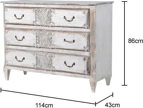 Distressed Six Drawer Chest image 7