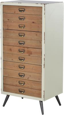 Distressed Six Drawer Tallboy Chest