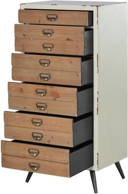 Distressed Six Drawer Tallboy Chest image 3