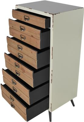 Distressed Six Drawer Tallboy Chest image 4