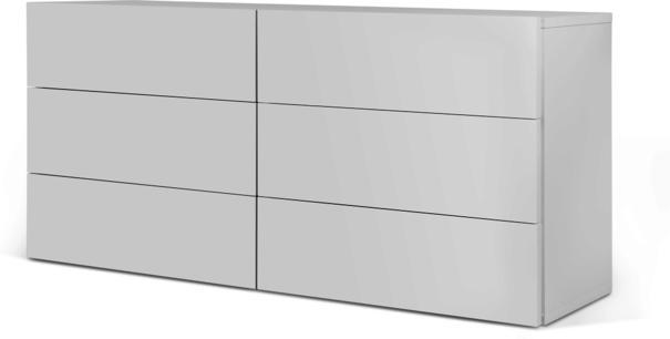 TemaHome Aurora Modern 6 Drawer Chest - Matt White or Walnut image 3