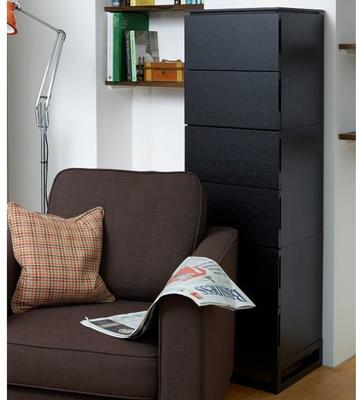 Cordoba Modern Tall Chest of 6 Drawers - Black Wenge image 2