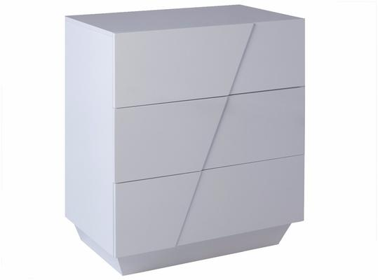 Glacier Chest of Three Drawers - White Gloss Lacquer