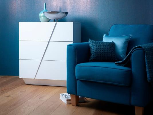 Glacier Chest of Three Drawers - White Gloss Lacquer image 2