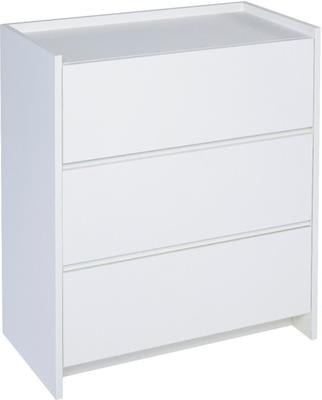 Essentials Chest of Drawers Three Drawer - Matt White Lacquer