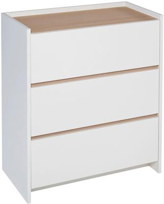 Essentials Chest of Drawers Three Drawer - Matt White Lacquer image 4