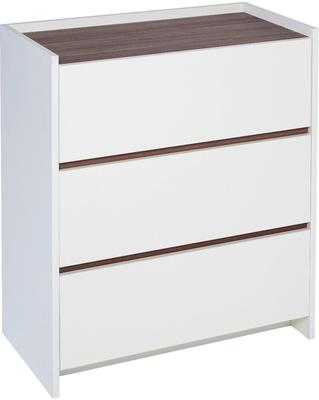 Essentials Chest of Drawers Three Drawer - Matt White Lacquer image 8