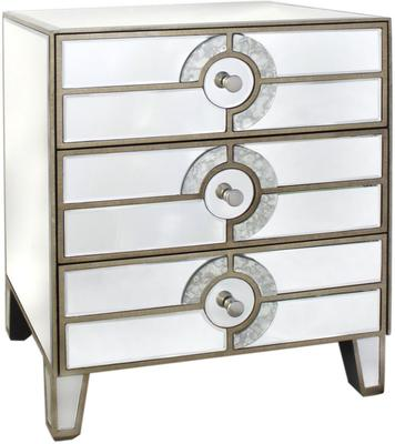 Antique Mirrored Chest of Drawers Venetian Style