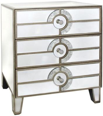 Antique Mirrored Chest of Drawers Venetian Style image 2