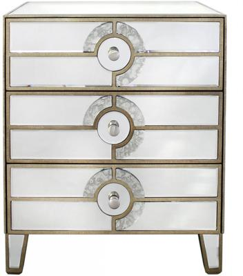 Antique Mirrored Chest of Drawers Venetian Style image 3