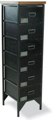 Industrial Vintage Six Drawer Apothecary Tallboy image 2