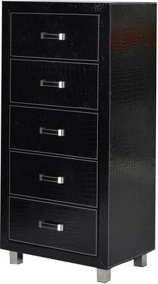 Crocodile Skin Effect Tallboy Modern Chest 5 Drawers