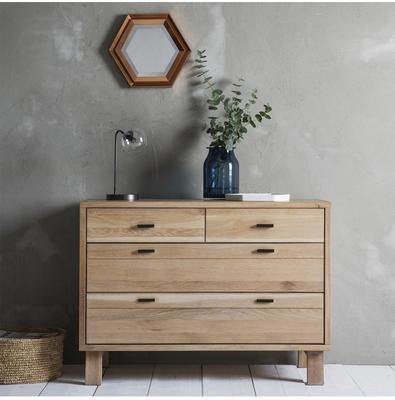 Kielder Simple Wooden Chest 2 Doors + 2 Drawers