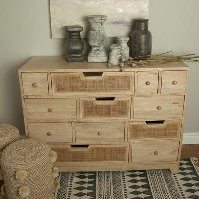 Natural Eclectic Twelve Drawer Chest Mango Wood