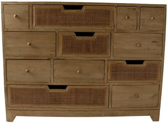 Natural Eclectic Twelve Drawer Chest Mango Wood image 2