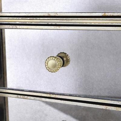 Venetian Antique Mirrored Tallboy Silver Trim image 3