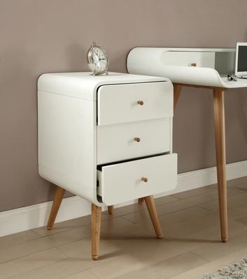 Jual Retro 3 Drawer Pedestal - White and Ash