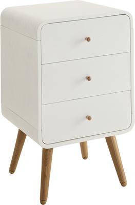 Jual Retro 3 Drawer Pedestal - White and Ash image 2