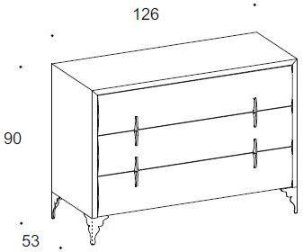 Dune 3 drawer dresser image 3