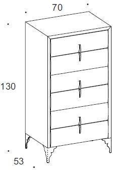 Dune 6 drawer chest image 2