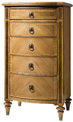 Spire Antiqued Wooden Five Drawer Tall Chest