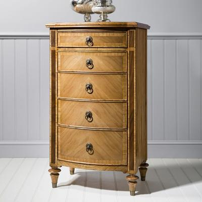 Spire Antiqued Wooden Five Drawer Tall Chest image 2
