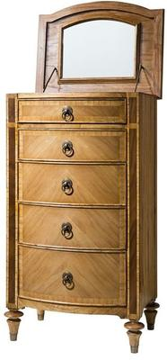 Spire Antiqued Wooden Five Drawer Tall Chest image 3