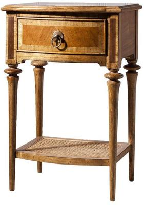 Spire Antiqued Wooden One Drawer Bedside Table
