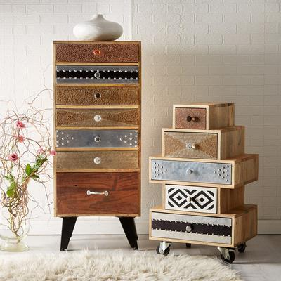 Sorio 5 Drawer Quirky Reclaimed Chest