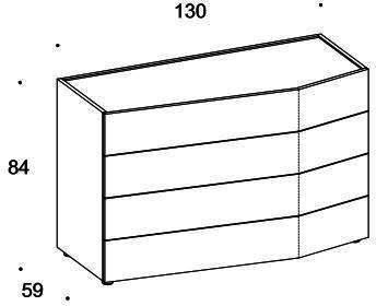Elysee 4 drawer dresser image 5