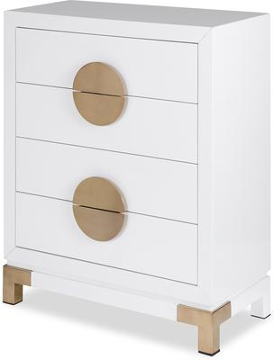 Otium Art Deco Chest of Drawers Black or White image 5