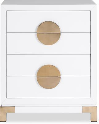 Otium Art Deco Chest of Drawers Black or White image 6