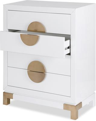Otium Art Deco Chest of Drawers Black or White image 7