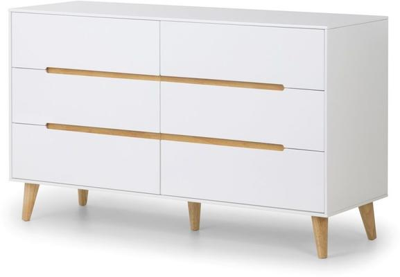 Visby 6 drawer wide chest