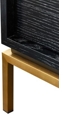 Lille Wenge Oak Chest of 2 Drawers with Brass Legs image 5