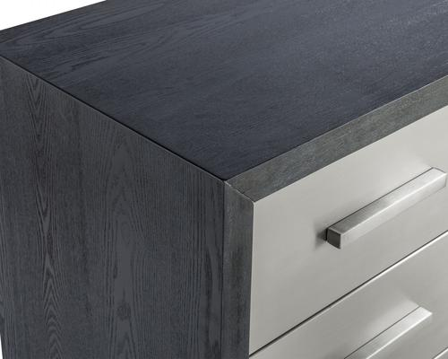 Camden Chest of 3 Drawers Black and Stainless Steel image 4