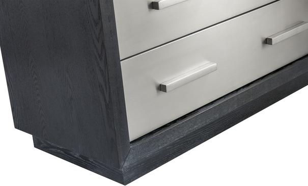 Camden Chest of 3 Drawers Black and Stainless Steel image 5