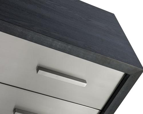 Camden Chest of 3 Drawers Black and Stainless Steel image 6