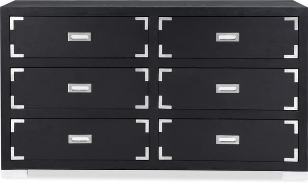 Genoa Contemporary Chest of Drawers Black Ash image 2