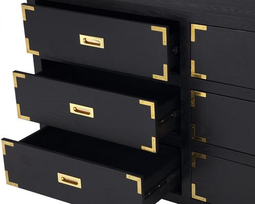 Genoa Contemporary Chest of Drawers Black Ash image 5