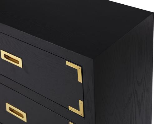 Genoa Contemporary Chest of Drawers Black Ash image 6