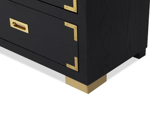 Genoa Contemporary Chest of Drawers Black Ash image 7