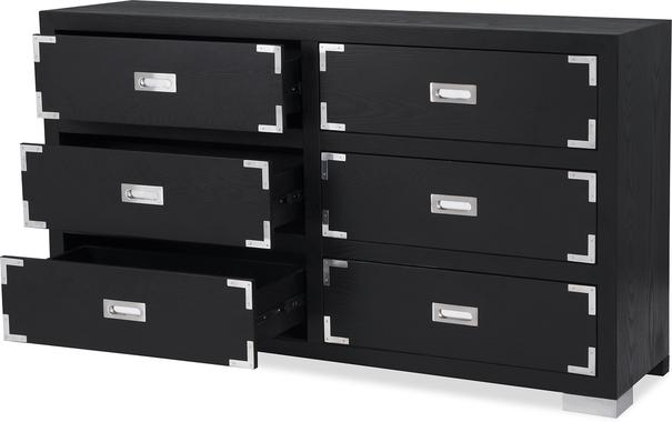 Genoa Contemporary Chest of Drawers Black Ash image 8