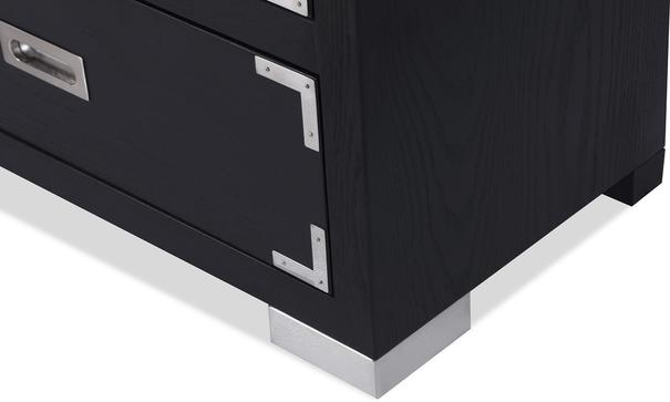 Genoa Contemporary Chest of Drawers Black Ash image 9