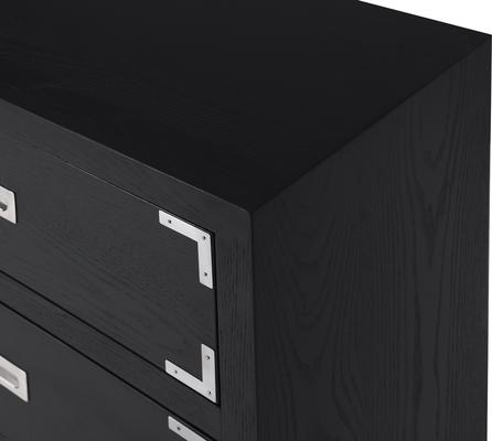 Genoa Contemporary Chest of Drawers Black Ash image 10